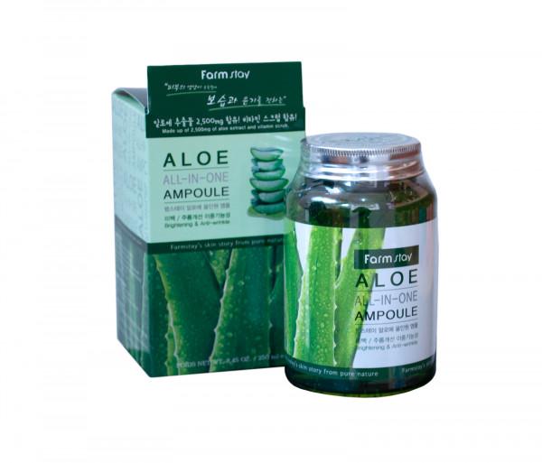 Դեմքի խոնավեցնող գել ալոե «Aloe All-in-one ampoule» Farm Stay 250մլ