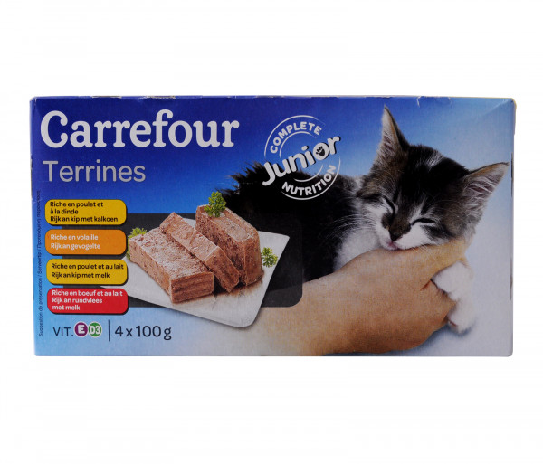 Carrefour Food for cats Junior 4x100g
