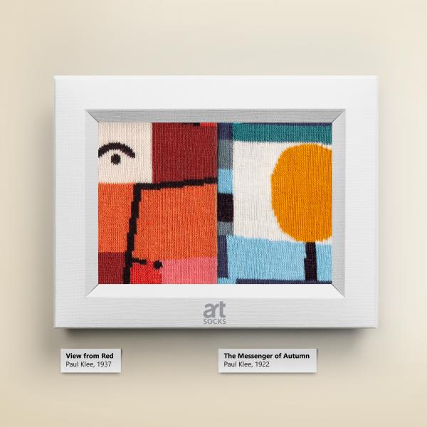"Socks Paul Klee ""The Messenger of Autuman"" Limited Edition Artsocks"