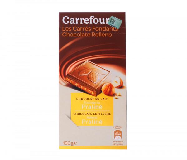 Քարֆուր Կաթնային շոկոլադի սալիկներ պրալինե միջուկով 150գ