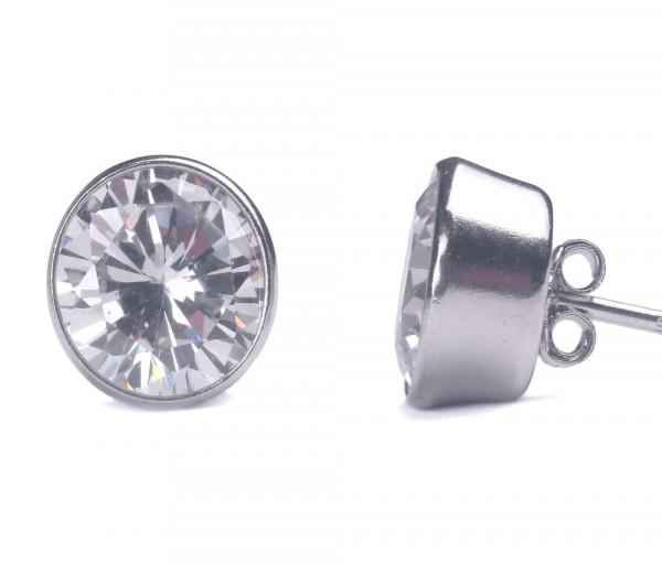 Silver earrings SE215B8W