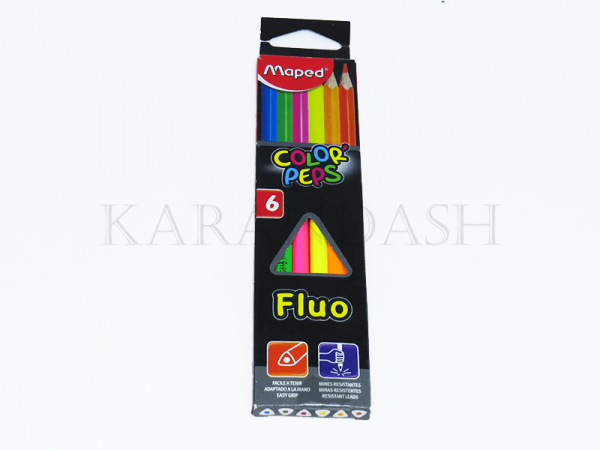 Մատիտներ գունավոր Maped Color peps Fluo FR83200305