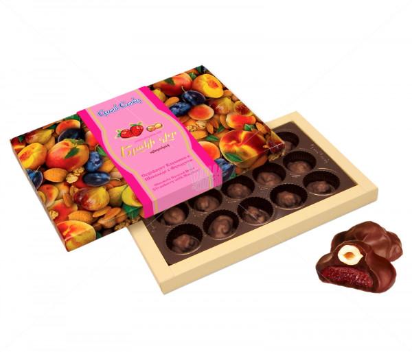 Կոնֆետների ընտրանի «Շոկոլադապատ ելակի չիր պնդուկով» Grand Candy