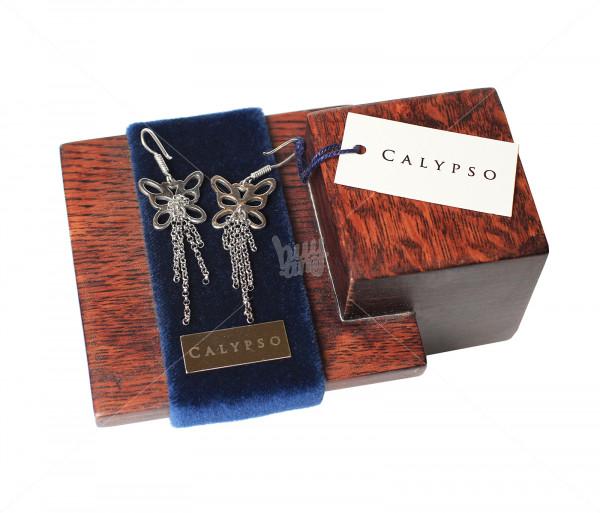 Արծաթյա ականջօղեր «Թիթեռնիկ» Calypso