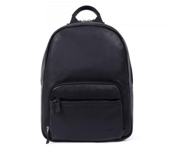 """Տղամարդու կաշվե ուսապարկ Backpack 13"""" Black Hexagona"""