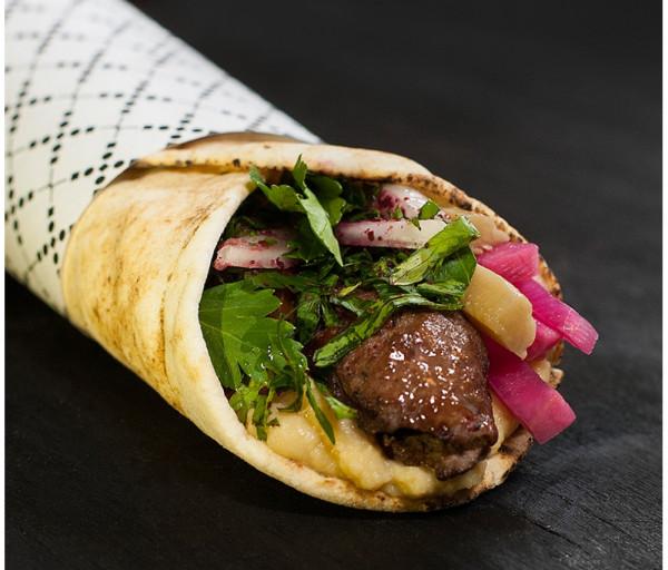 Տավարի քյաբաբով սենդվիչ (կրկնակի միս)
