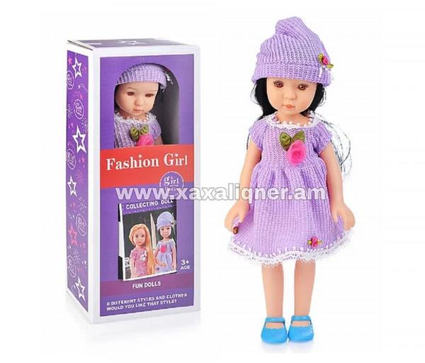 Տիկնիկ մանուշակագույն զգեստով