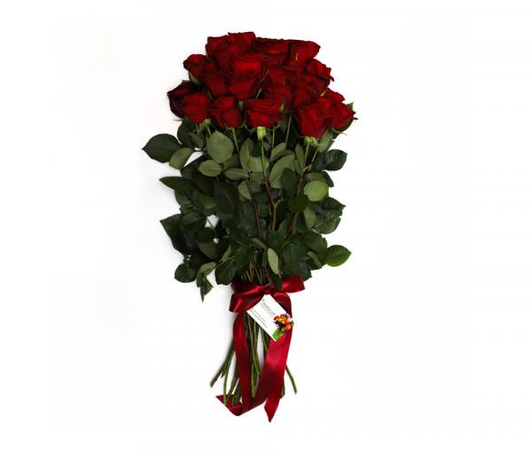 21 կարմիր վարդով ծաղկեփունջ Anahit