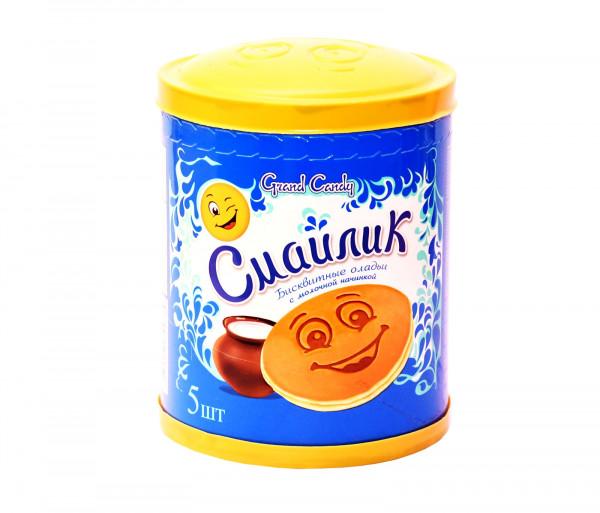 Թխվածքաբլիթ կաթնային միջուկով «Սմայլիկ» (5 հատ) Grand Candy