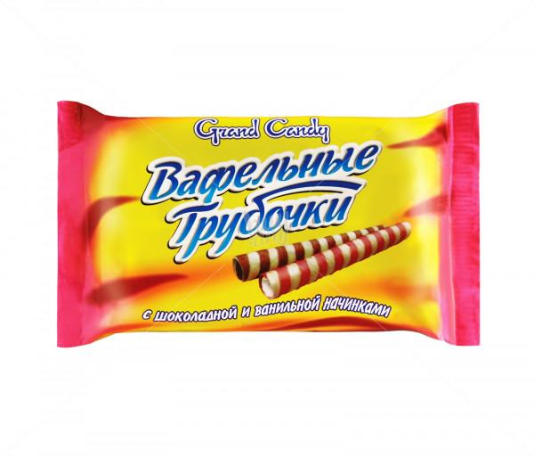 Վաֆլե գլանակներ (շոկոլադե և վանիլային միջուկով) Grand Candy