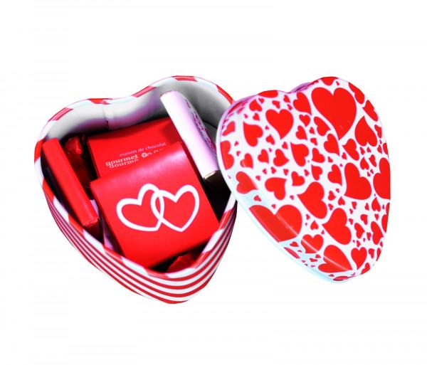 Շոկոլադե սալիկների հավաքածու «Happy Valentine's Day» 50գ Gourmet Dourme