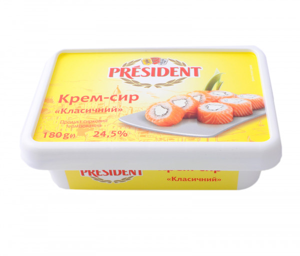 Պրեզիդենտ Կրեմ Պանիր Դասական 24.5% 180գ