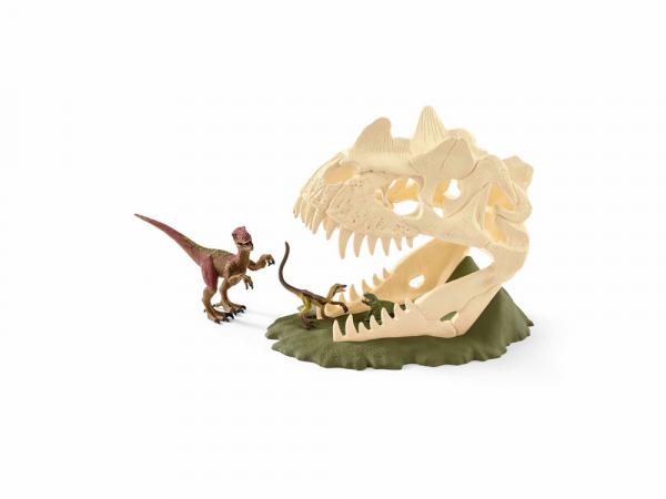Schleich Դինոզավրերի արձանիկների հավաքածու «Մեծ գանգաձև ծուղակ և վելոցիրապտոր»
