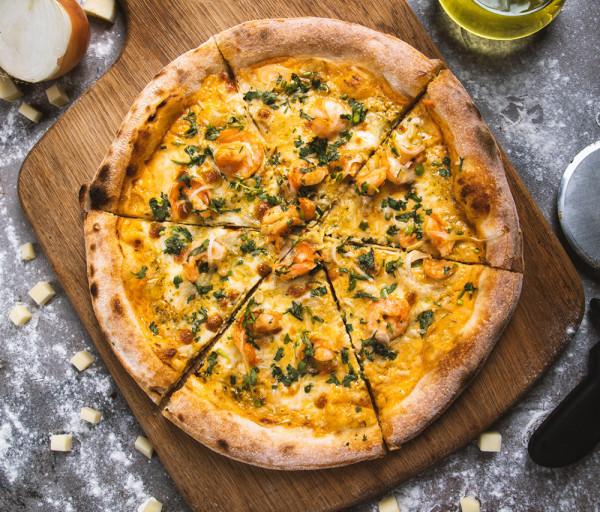 Նեապոլիտանական պիցցա մանրածովախեցգետնով 12 Կտոր Պիցցա