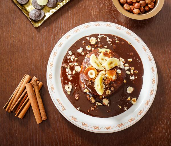 Փանքեյք շոկոլադով և բանանով Մայրիկ Ռեստորան
