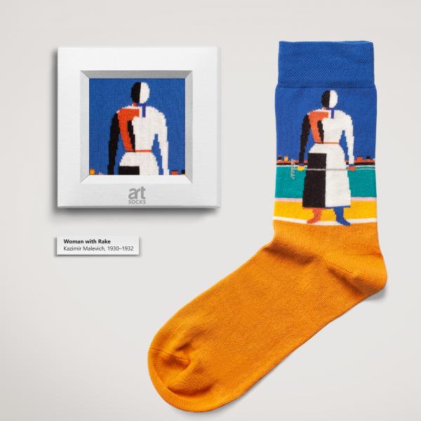 "Socks Kazimir Malevich ""Woman with Rake"" Limited Edition Artsocks"