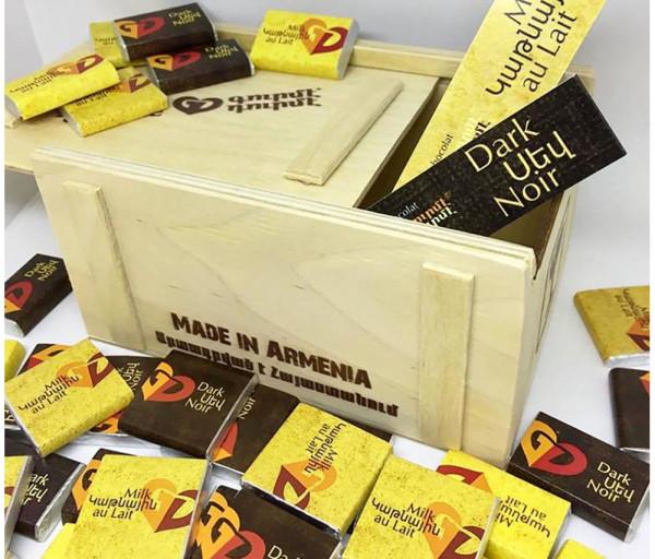 Շոկոլադե սալիկ «Փայտե արկղ» Gourmet Dourme
