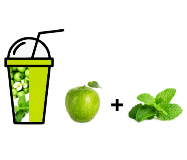 Թարմ հյութ Խնձոր + Անանուխ