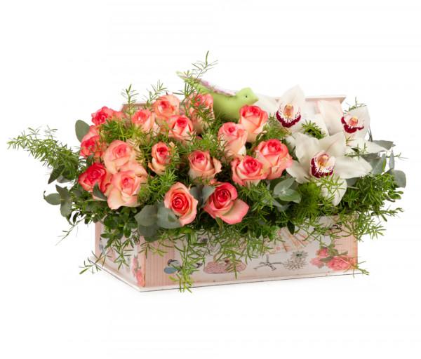 Ծաղկային կոմպոզիցիա N38 Cataleya Flowers
