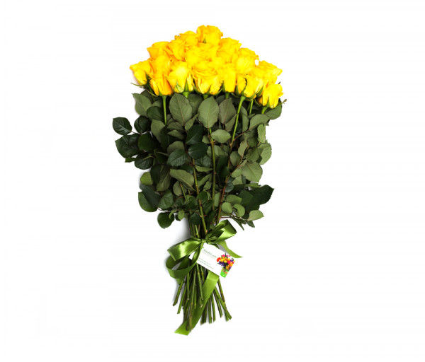 Bouquet of 21 yellow roses Anahit