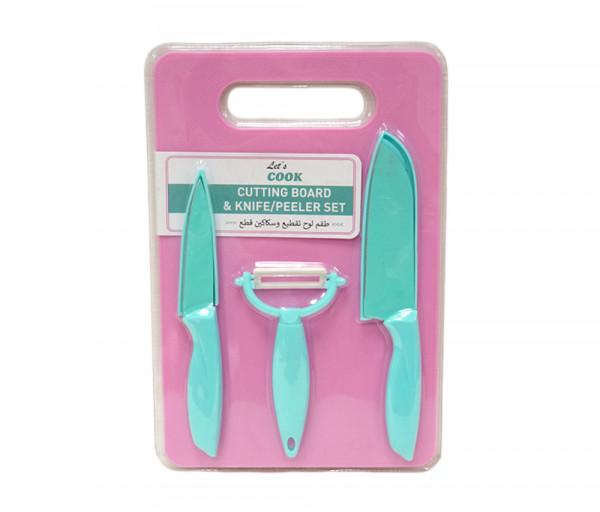 Խոհանցային տախտակ և դանակների հավաքածու