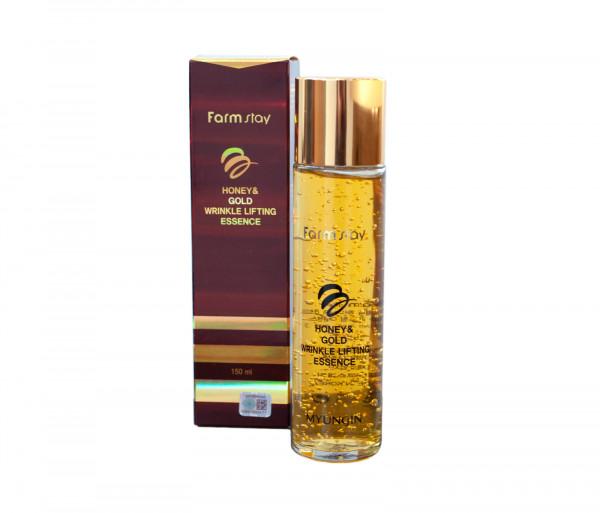 Մեղրով և ոսկով հակատարիքային էսենցիա «Honey & Gold Wrinkle Lifting Essence» Farm Stay 150մլ