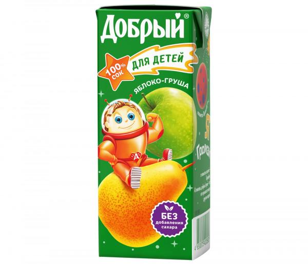 Բնական հյութ «Добрый» (խնձոր-տանձ) 0.2լ