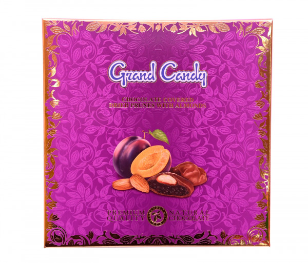 Շոկոլադապատ սալորաչիր նուշով 155գ Grand Candy