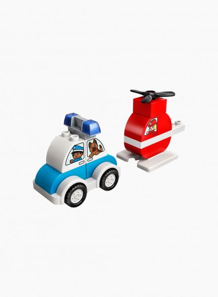 Կառուցողական խաղ Duplo «Հրշեջ ուղղաթիռ և ոստիկանական մեքենա»