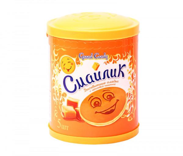 Թխվածքաբլիթ իրիսի միջուկով «Սմայլիկ» (5 հատ) Grand Candy