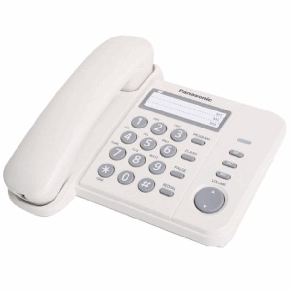 Corded phone Panasonic KXTS2352RUW white