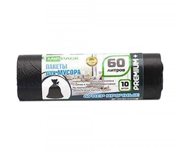 Աղբի տոպրակներ «Mir Pack» 60լ Premium + սև 20 մկմ