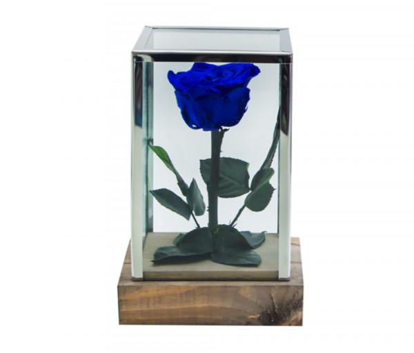 Բնական անթառամ կապույտ վարդ Ուղղանկյուն (18սմ) EM Flower