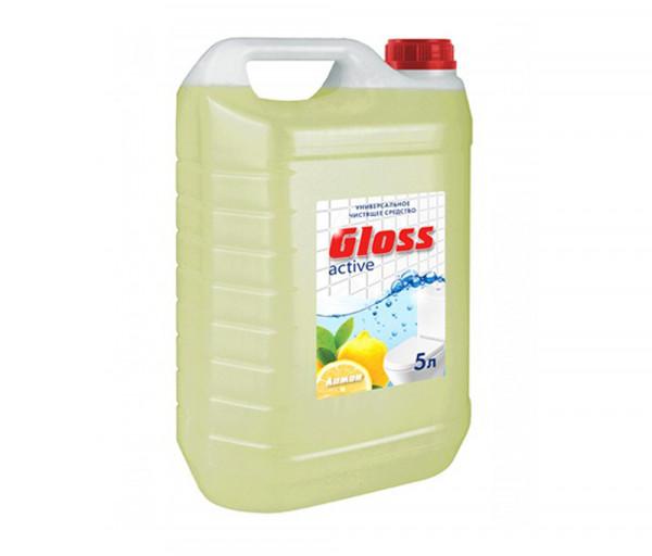Սանհանգույց մաքրող միջոց Gloss active (կիտրոն) 5լ