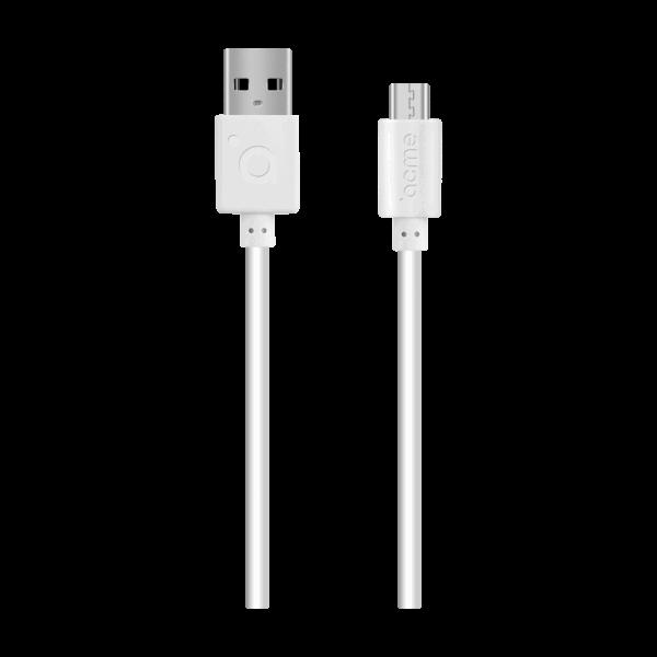 Հաղորդալար ACME CB1011W Midro-USB 1m White