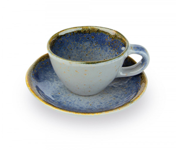 Սուրճի բաժակ ափսեով Terre Lontane Giannini Մոխրագույն