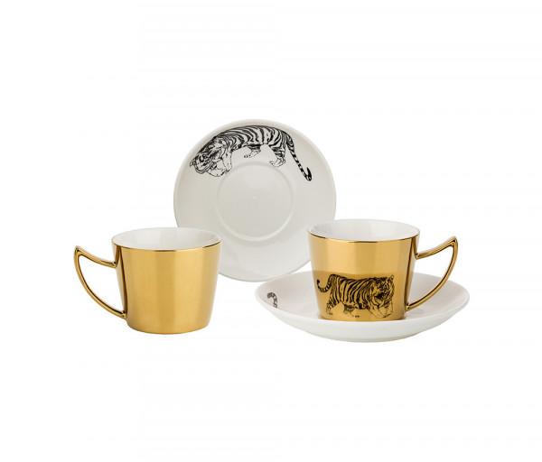 Սուրճի սպասք Tiger 2 անձի, 90մլ, ոսկեգույն