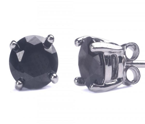 Silver earrings SE215PR4BK