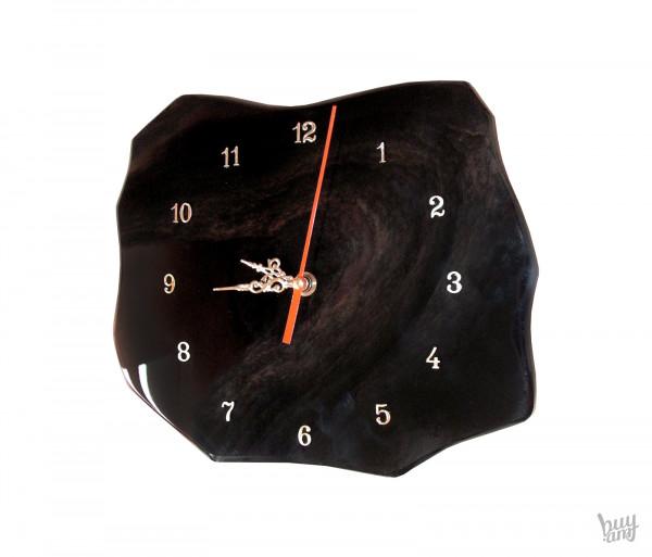 Պատի ժամացույց օբսիդիան «Աբստրակտ»