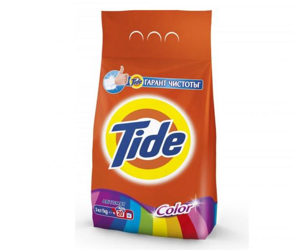 Թայդ Ավտոմատ Լվացքի փոշի Գունավոր հագուստի համար 3կգ