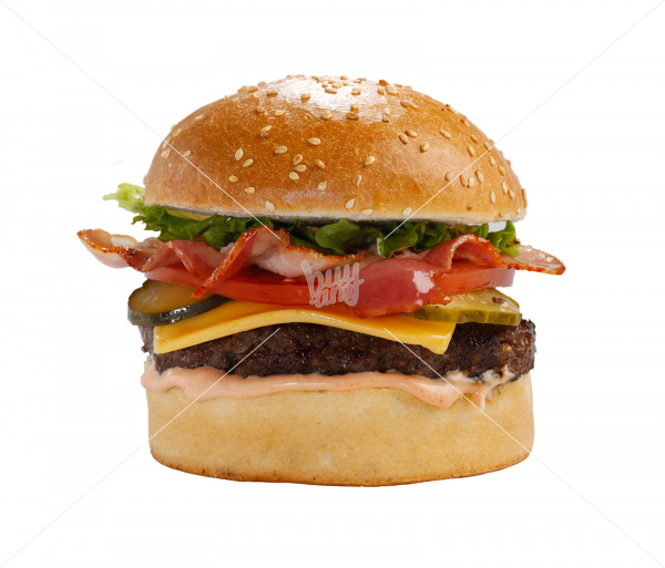 Բուրգեր «Beef - Bacon & Cheddar Cheese» (մեծ) Black Angus