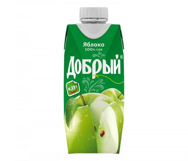 Բնական հյութ «Добрый» (խնձոր) 0.33լ
