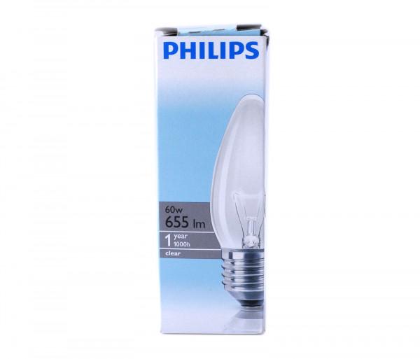 Ֆիլիպս Լամպ Ստանդարտ 60w E27 230v B35 Cl