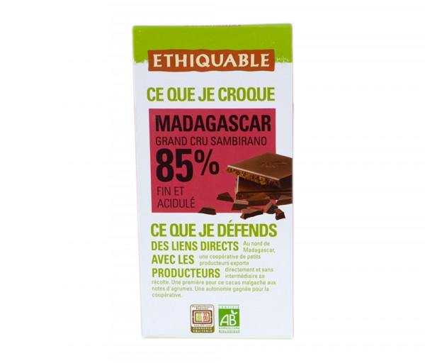 Էթիկաբլ Բիո Մուգ շոկոլադ Սալիկ 85% 100գ