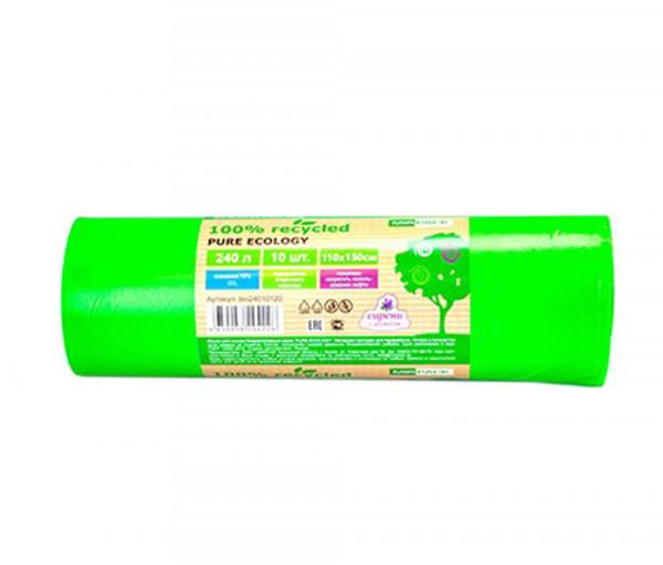 Աղբի տոպրակներ Mir Pack 240լ Pure Ecology կանաչ 40 մկմ