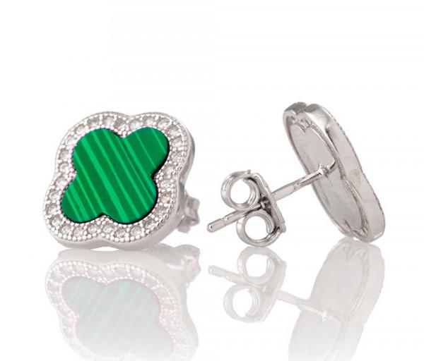 Silver earrings SE208NM