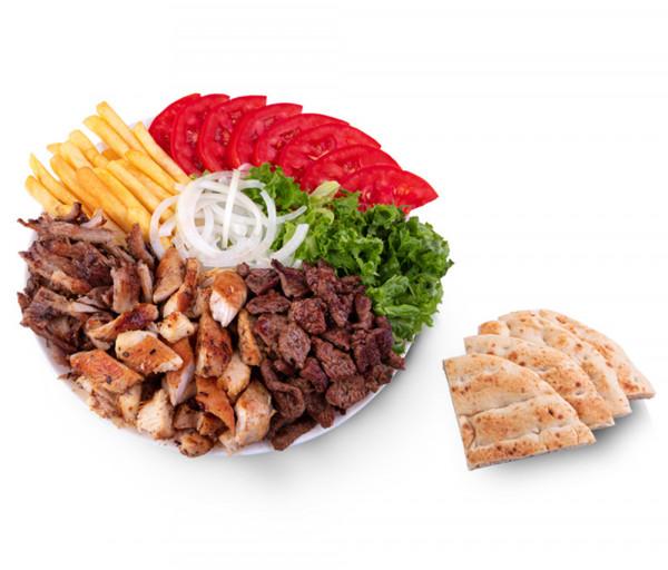 Տավարի գիրոս ափսեում հունական պիտա հացով Mr. Gyros