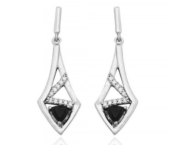 Silver earrings SE384