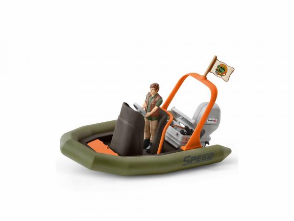 Schleich Արձանիկ «Ռեյնջեր՝ փչովի նավակով»