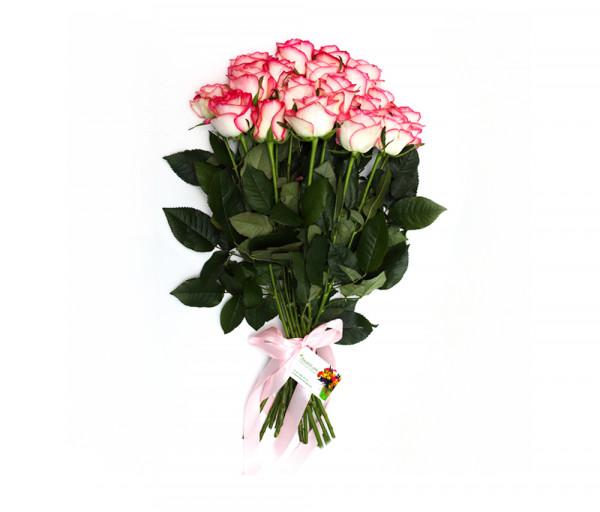 19 վարդագույն վարդով ծաղկեփունջ Anahit